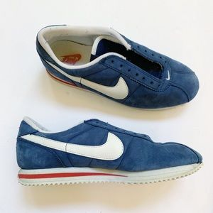 Nike Blue Suede Retro Cortez Sneakers 9.5 Women's